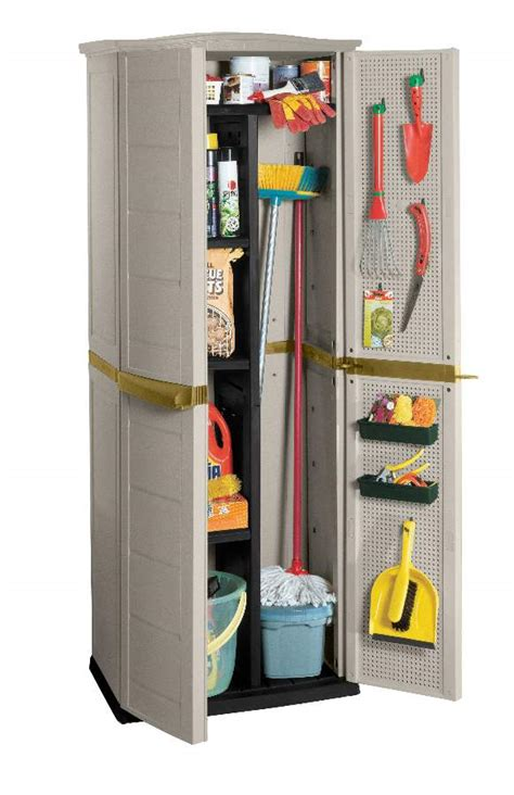 broom and mop cabinet make your pantry looks clean with simple well organized