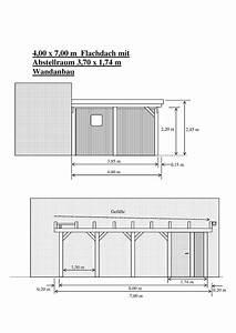 Carport 3 X 4 : carport 4 00 x 7 00 m fichte kvh abstellraum ~ Whattoseeinmadrid.com Haus und Dekorationen