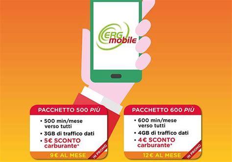 Sim Erg Mobile by Traffico Telefonico E Carburante Scontati Con Erg Mobile