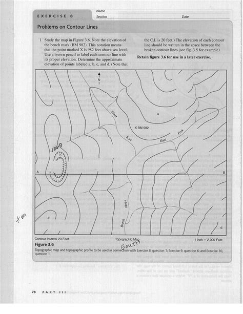 6 Best Images Of Topographic Maps Worksheets For Students  Topographic Map Practice Reading
