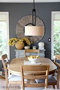 Benjamin, Moore, Gray, On, Dining, Room, Feature, Or, Accent, Wall, Country, Or, Farmhouse, Style, Home, Decor