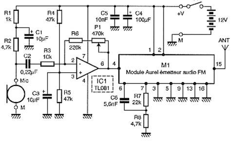 Wireless Transmitter Microphone Circuit Electronic