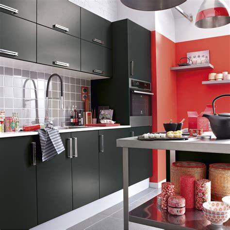 meuble de cuisine noir delinia délice leroy merlin