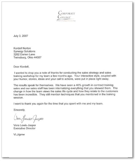 sales letter of recommendation writing