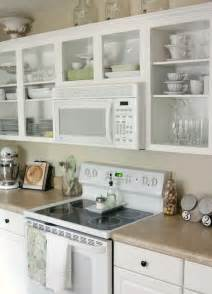 Over-the-range microwave and open shelving