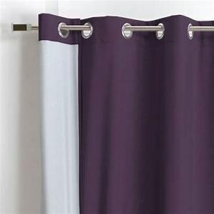 Rideau Thermique Avis : rideau thermique 140 x h250 cm sun violet rideau ~ Farleysfitness.com Idées de Décoration