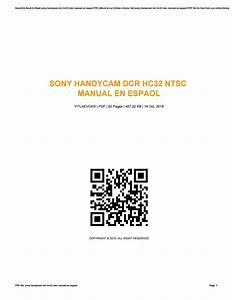 Sony Handycam Dcr Hc32 Ntsc Manual En Espaol By