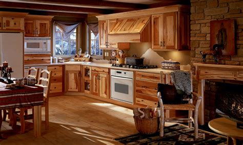 knotty hickory kitchen cabinets rustic decor ideas living room knotty hickory kitchen