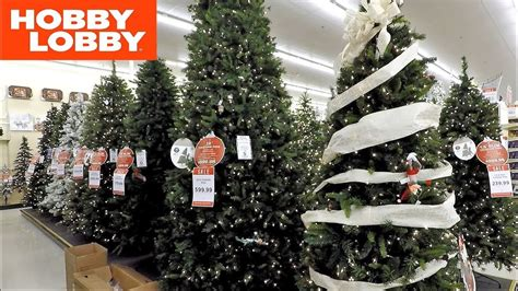 hobby lobby  christmas trees christmas shopping