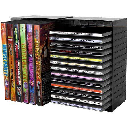 cd rack walmart atlantic disc module 12 dvd 26 cd multimedia tabletop