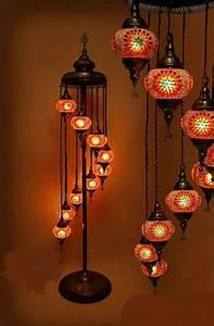 9 balls turkish mosaic lamp floor lamp shades ups fast for Floor lamp mosaic wood