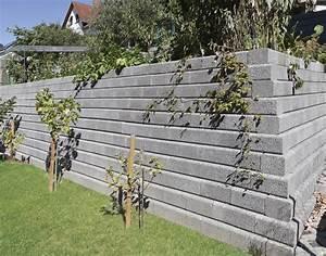 Sichtschutz Befestigung Auf Mauer : tromalit mauer von rinn betonsteine und natursteine ~ Watch28wear.com Haus und Dekorationen