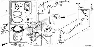 Honda Atv 2013 Oem Parts Diagram For Fuel Pump
