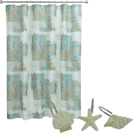 Coastal Shower Curtain by Bacova Guild Quot Coastal Moonlight Fabric Shower