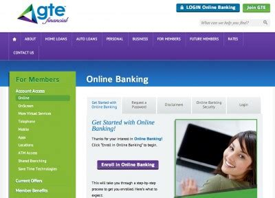 Gte Financial Mobile Banking by Gte Financial Credit Union Banking Login Bank