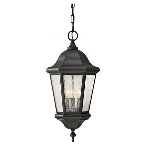 feiss martinsville 3 light black outdoor pendant ol5911bk