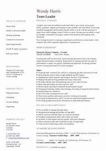 team leader cv sample With leadership resume examples