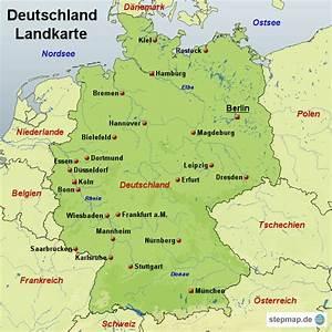 Deutschland Physische Karte : stepmap deutschland landkarte landkarte f r deutschland ~ Watch28wear.com Haus und Dekorationen