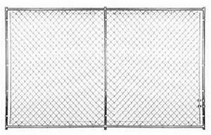 black chain link fence panels design ideas attaching With chain link dog kennel panels home depot