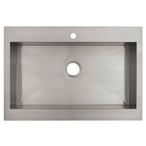 top mount kitchen sinks stainless steel vault top mount apron front kitchen sink stainless steel 9485
