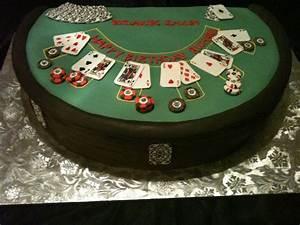 Vegas Themed Designs Birthday Cake Poker Table Casino Cakes Family Cake