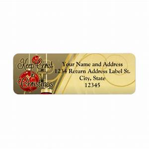 christmas return address labels templates zazzle With christian return address labels