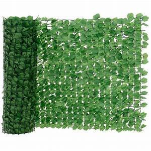 neuhausr blatterzaun grun sichtschutz windschutz zaun With französischer balkon mit sichtschutz garten 3m hoch