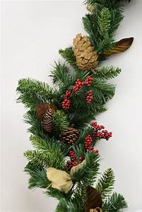 pine, garland, with, burlap, bows, 6ft