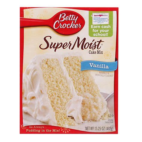 vanilla cake mix betty crocker vanilla super moist cake mix 432g from redmart