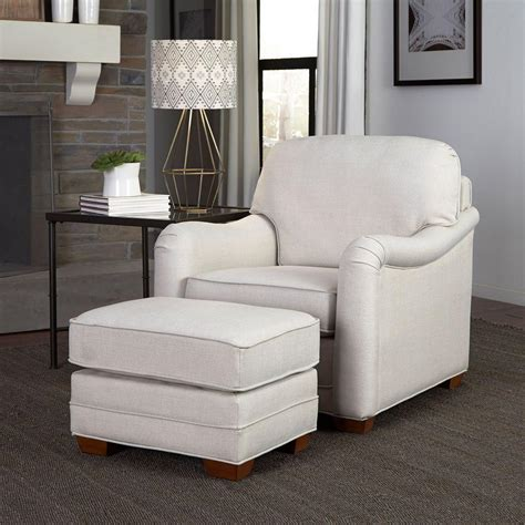 arm chair with ottoman home styles heather off white arm chair with ottoman 5205
