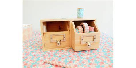 panier bureau rangement bureau 2 tiroirs en bois