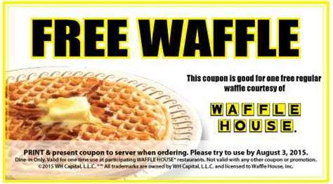 FREE Waffle House Waffle w/New Coupon! - Coupon Connections
