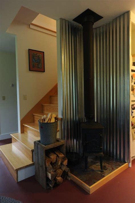 pin  kelly ellis skaaning  cottage life wood stove