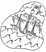 Coloring Pirate Malvorlagen Ausdrucken Stormy Ship Pirati Ausmalbilder Seas Zum Piratenschiff Pirata Pirates Ausmalen Piraten Sharky Sea Coloriage Schatzkarte Capt sketch template