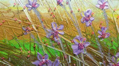 quadri con i fiori paesaggio piccolo con fiori vendita quadri