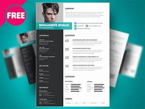 free psd resume cv template design by mohammed shahid With free photoshop resume templates