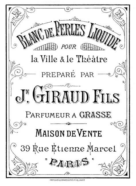 vintage perfume label image vintage labels french