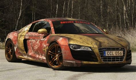 Iron Manthemed Audi R8 Looks Like Something Straight Out