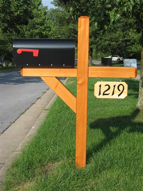 wooden mailbox posts wood  plans