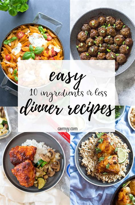 70+ best casserole recipes for easy dinner ideas. 15 Easy Dinner Ideas To Cook Tonight (10 ingredients or ...