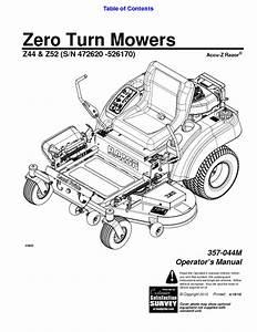 Accu-z Razor 357-044m Manuals