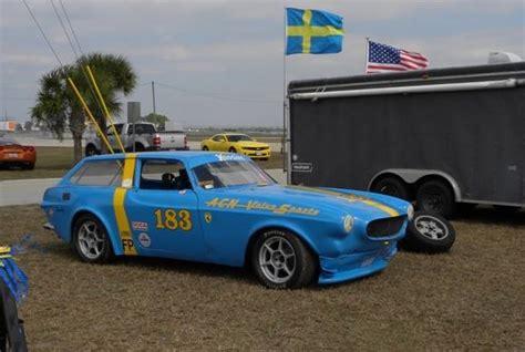volvo es race car bring  trailer