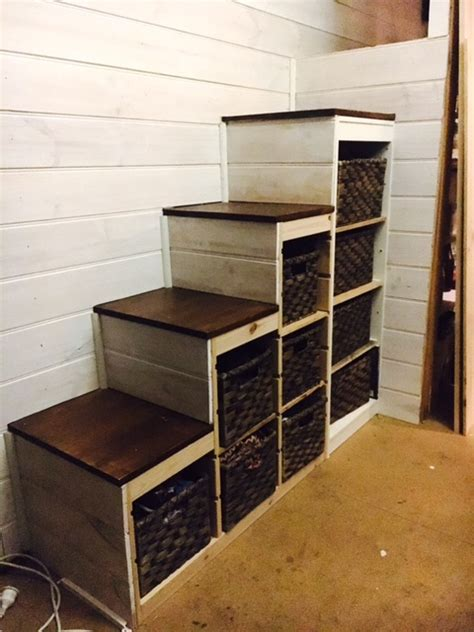 trofast storage  sturdy stair conversion ikea hackers