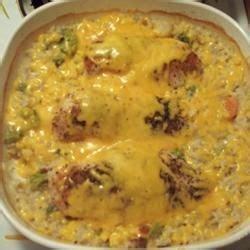 campbellsr cheesy chicken  rice casserole