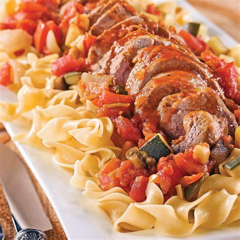 recette cuisine porc filets de porc et ratatouille recettes cuisine et