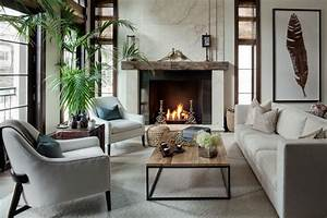 Living Room with Concrete floors by LG Interiors Zillow
