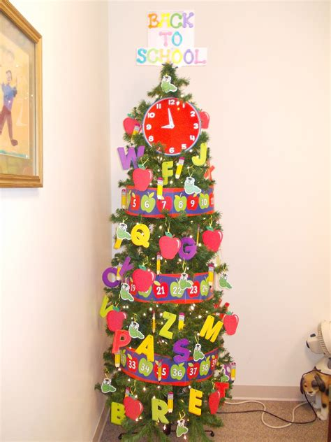 christmas decorations for school back to school 2013 monthly themed tree school 2013 school and