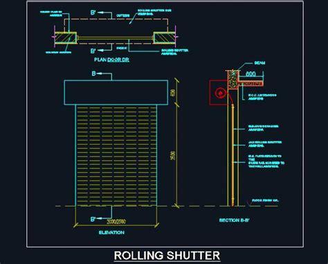 Kitchen Recessed Lighting Ideas - rolling shutter detail design plan n design