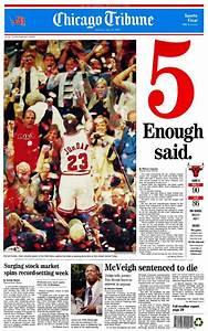 "Chicago Bulls 1997 Championship ""5: Enough Said "" Front"