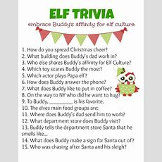 Elf Holiday Party Ideas  Trivia, Elves And Holidays
